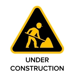 Under construction road sign vector image