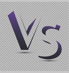 versus logo vs letters vector image