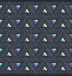 Vibrant triangles seamless pattern vector