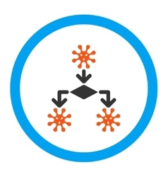 Virus Reproduction Rounded Icon vector