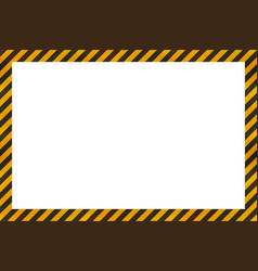 Warning sign yellow and black stripes frame vector