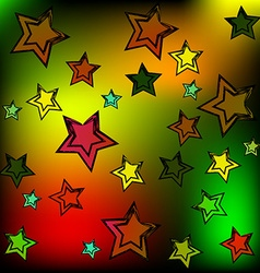 Background of the stars vector image