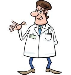 doctor in white coat cartoon vector image vector image