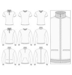 Mens short and long sleeve clothes vector image