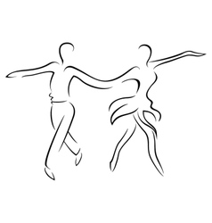 Chacha dancers vector image