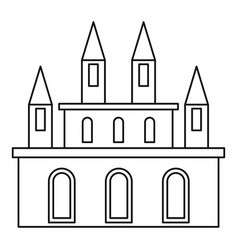 royal castle icon outline style vector image vector image