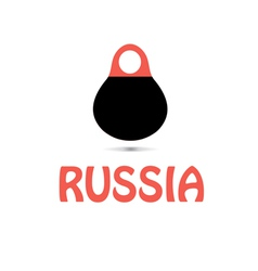 Russian Matryoshka doll vector image