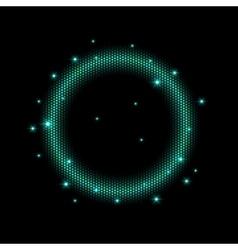 Abstract mosaic shining circle vector image