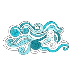 Abstract wave pattern for your design vector image