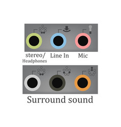 all sound input output vector image