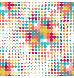 Disco seamless pattern of halftone dots in retro vector image vector image