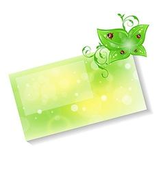 Eco friendly card vector image