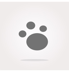 footprint icon footprint icon eps10 vector image