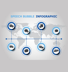 infographic design with speech bubble icons vector image