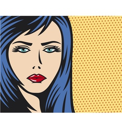 pop art woman vector image vector image