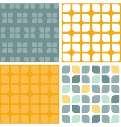 abstract gray yellow rounded squares set of vector image vector image