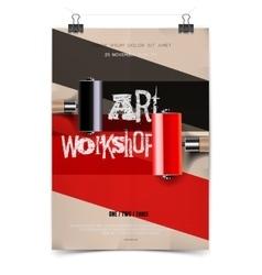 Art workshop template vector image vector image
