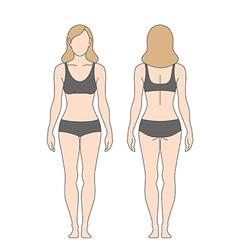 figure woman vector image