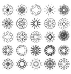 Set of simple mandalas vector image