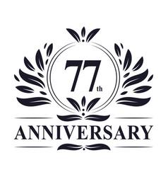 77th anniversary logo 77 years celebration vector