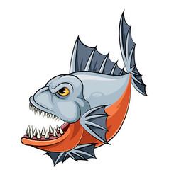 A cartoon piranha fish vector