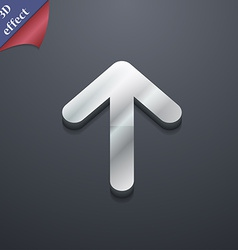 Arrow up This side up icon symbol 3D style Trendy vector