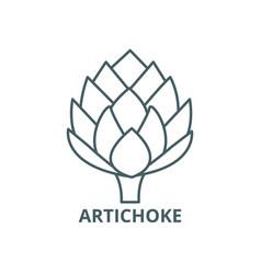 Artichoke line icon artichoke outline vector