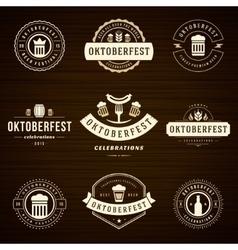 Beer festival Oktoberfest celebrations labels vector image