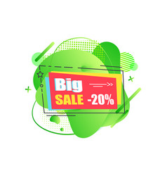 big sale 20 percent reduction off price banner vector image