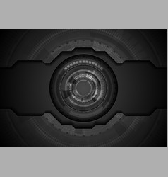 Black concept technology background with gear vector