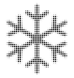 Black pixel snowflake icon vector
