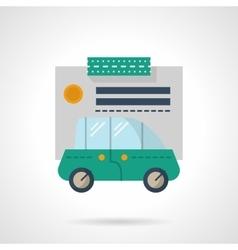 Car loan flat color icon vector