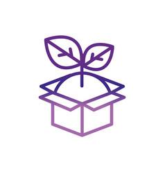 cardboard box plant charity help donation vector image