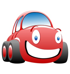 cheerful race car vector image