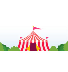 circus tent in a park area icon flat isolated vector image