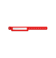 Clean red bracelet template for security access vector
