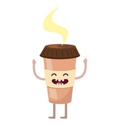 coffee paper cup cartoon vector image