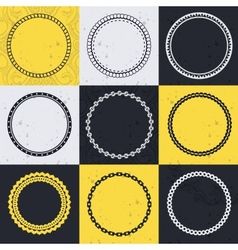 collection with circle frames vector image
