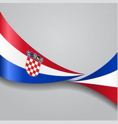 Croatian wavy flag vector