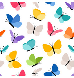 Cute seamless butterfly pattern vector