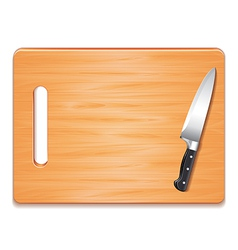 cutting board and knife isolated vector image