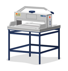 Cutting paper cutter icon element printing vector
