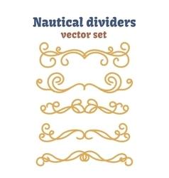 Dividers set nautical ropes decorative vector
