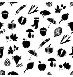 Doodle autumn seamless pattern vector