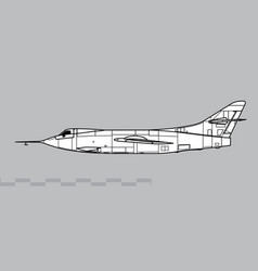 douglas d-558-2 skyrocket vector image