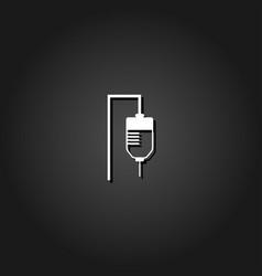 drop counter icon flat vector image