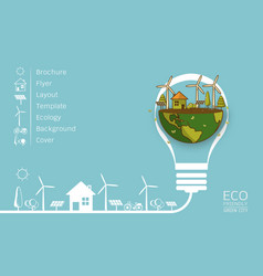 eco earth vector image