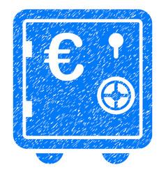 Euro banking safe grunge icon vector
