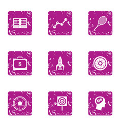 Expensive snapshot icons set grunge style vector