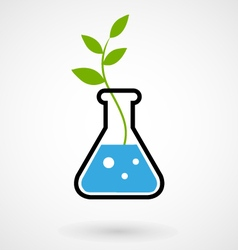 Flask with gmo sprout vector